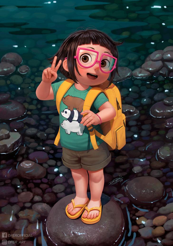 Imgur Com Cute Images For Dp Cartoons Dp Cute Cartoon Girl