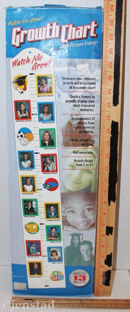 Watch me grow kids growth chart  picture frame wall mountable display photo also rh pinterest