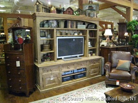 Custom Entertainment Media Center With Arch Detail And Crown