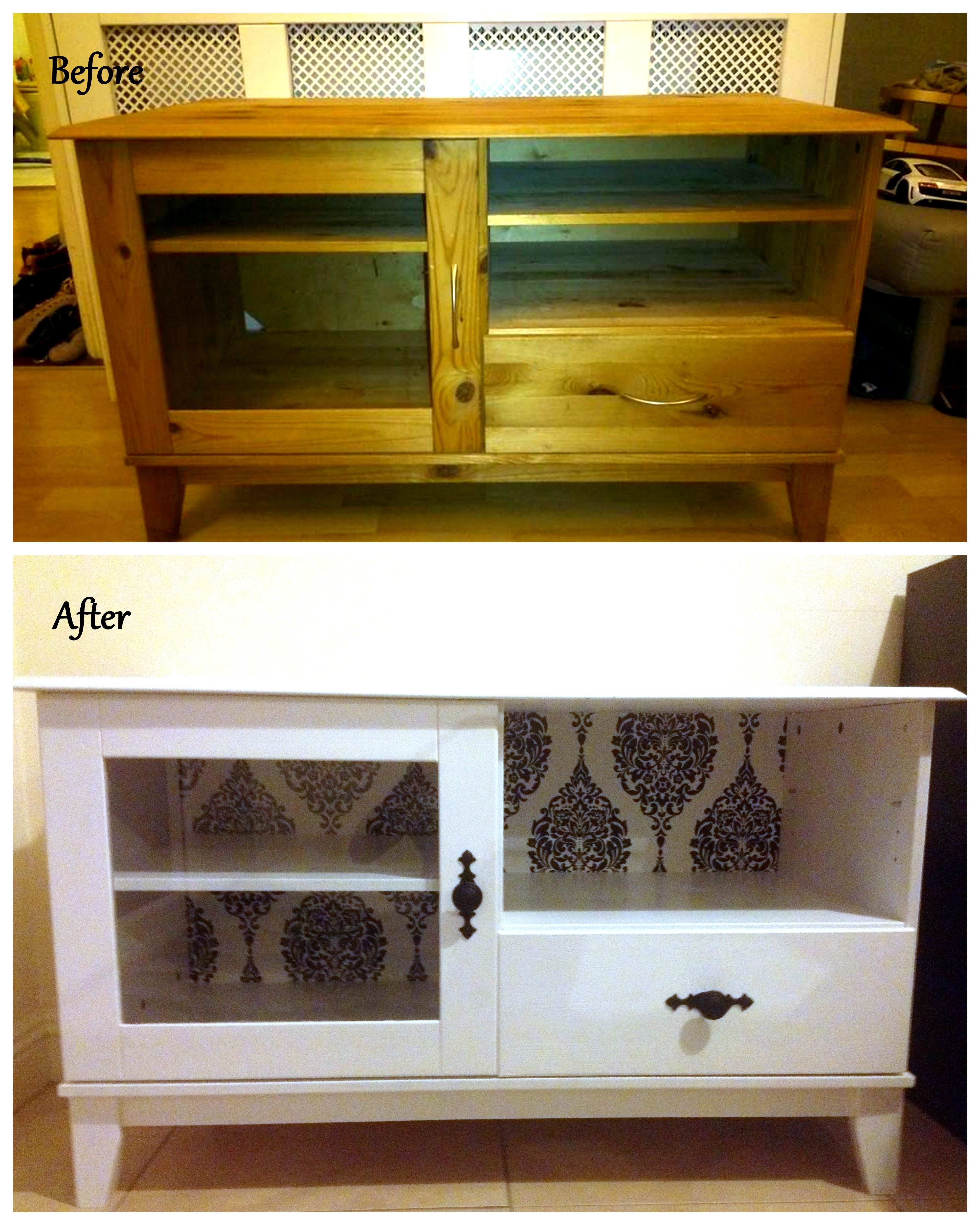 My Diy Project Old Tv Unit Got A New Life Living Room Furniture