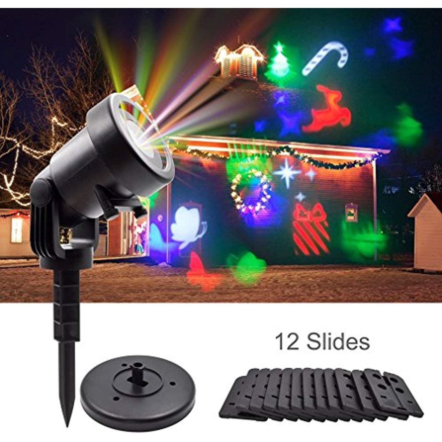 Christmas Laser Projector Lights, GEREE Halloween Outdoor