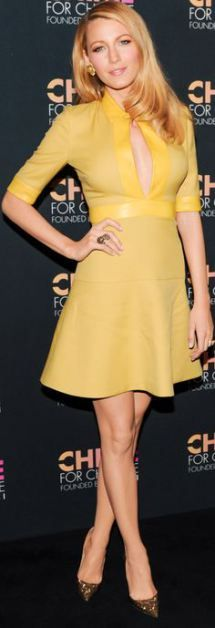 Blake Lively wearing Gucci at  Chime for Change!