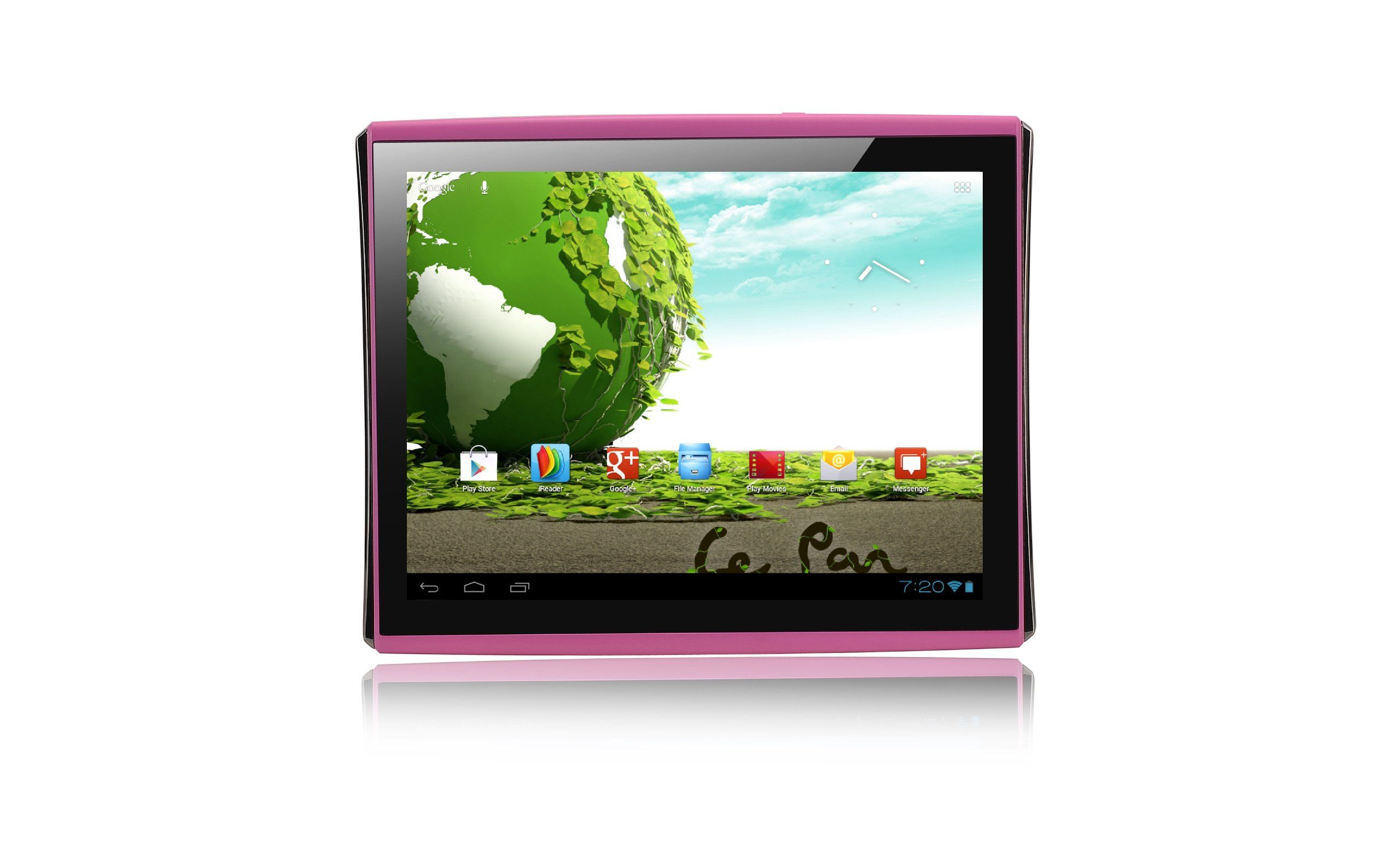 Le pan s pk 9 7 inch 4gb tablet pink android 4 0