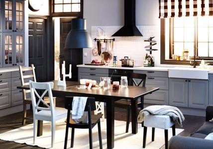 schwarze küche landhausstil - Google-Suche Küche mit Charme - landhausstil modern ikea