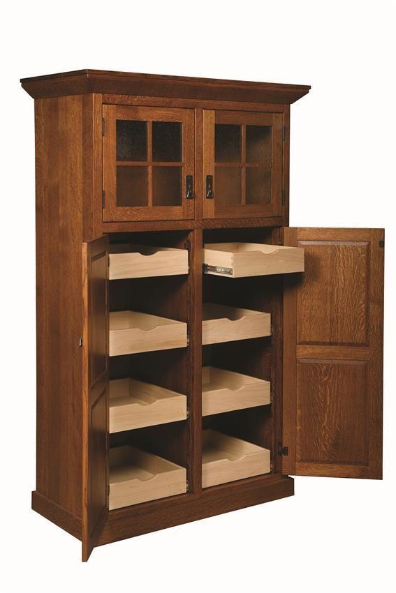 Amish Stickley Heritage Mission 4-Door Pantry | Kitchen ...