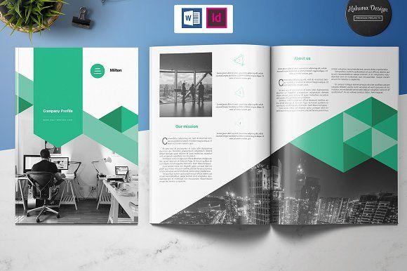Company Profile by Kahuna Design on @creativemarket