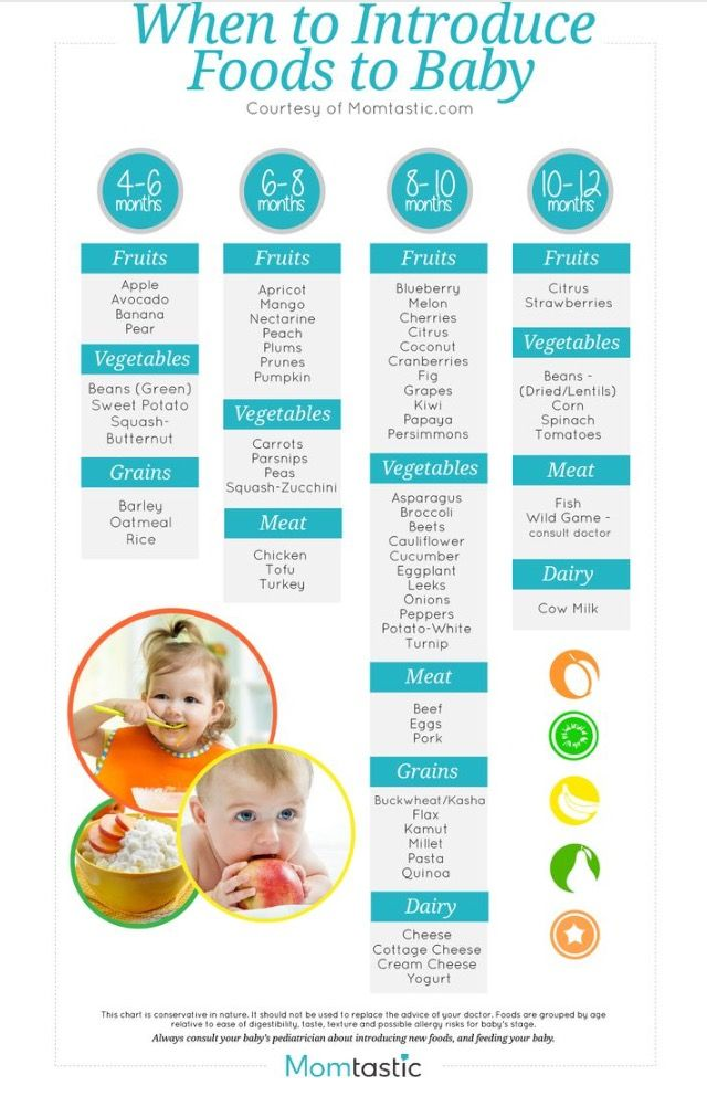 Solids Chart For Babies