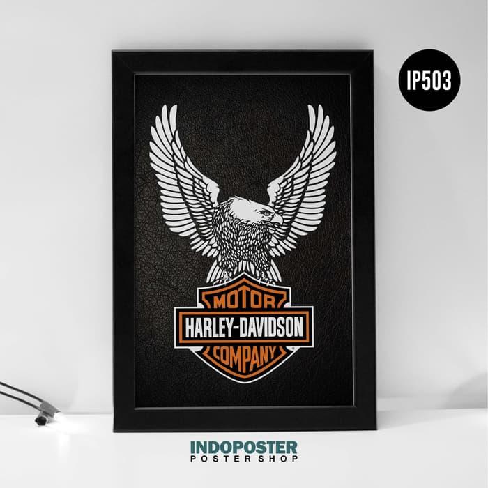 Jual Ip503 Poster Hiasan Dinding Harley Davidson Eagle Logo 45x30cm Kab Bandung Indoposter Tokopedia Hiasan Harley Davidson Poster