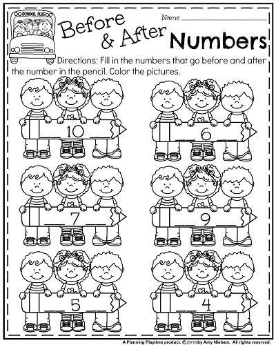 Back to School Kindergarten Worksheets | school | Kindergarten math ...
