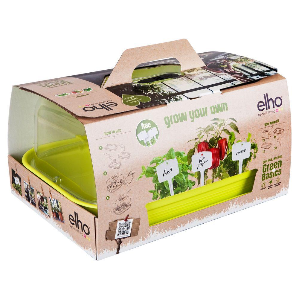 elho green basics all in 1 grow kit lime green plants gardening pinterest grow kit. Black Bedroom Furniture Sets. Home Design Ideas