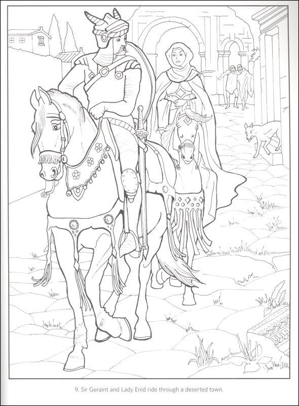 Legend Of King Arthur And His Knights The Round Table Coloring Book