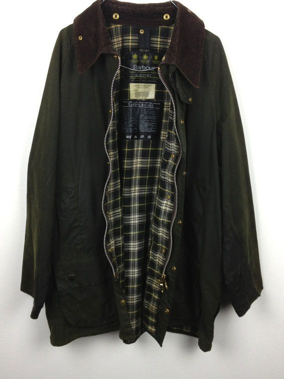 vintage barbour beaufort Varsity green by HappyHouseVintageIT, €95.00