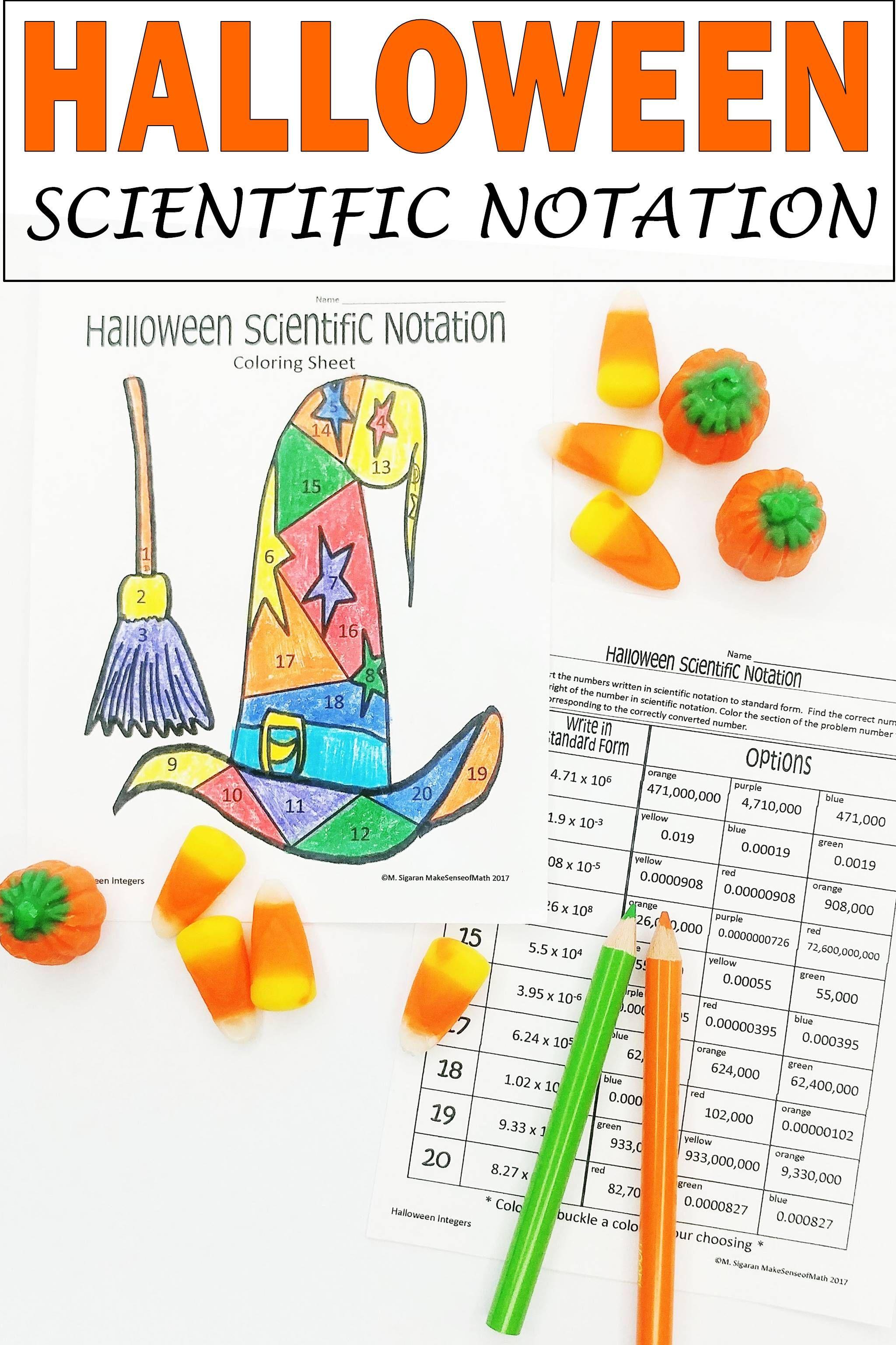Halloween Math Activity Scientific Notation Halloween Math Activities Halloween Math Worksheets Scientific Notation [ 3072 x 2048 Pixel ]