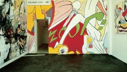 Michel Majerus, Enlarge-o-ray-...on!, 1994 (Detail)    Installationsansicht, neugerriemschneider, Berlin