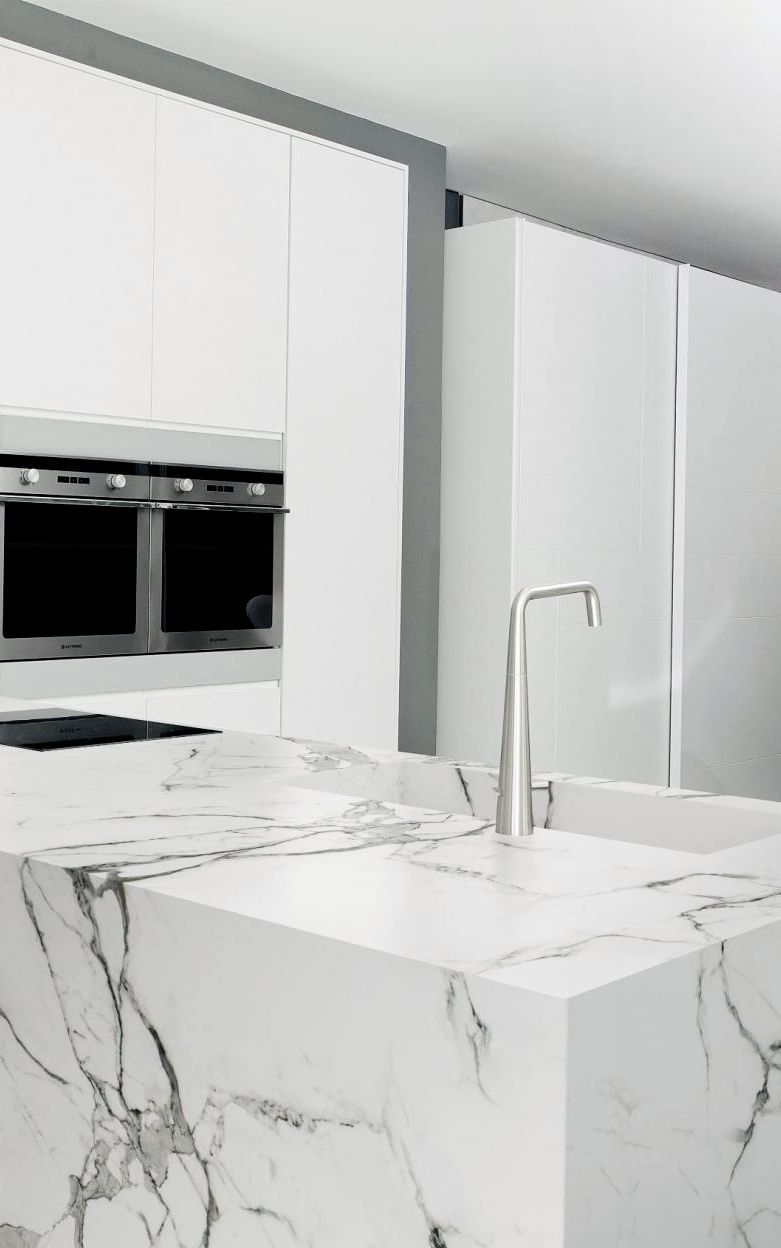 Dekton By Cosentino Aura From The Natural Collection Dekton White Modern Kitchen Countertop Inspiration