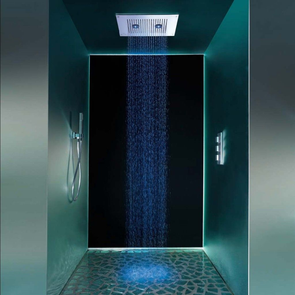 Showerhead with floodlights shower and thermostatic mixer - Duchas con luz ...