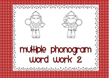 Multiple Phonogram Word Work Book 2