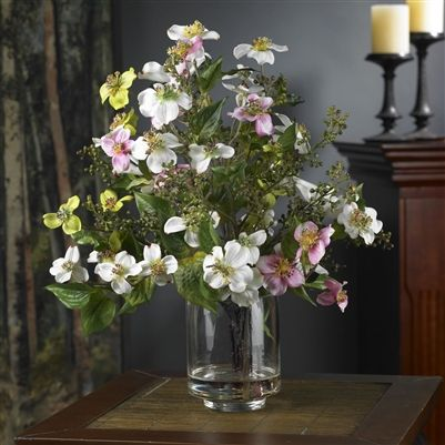 Dogwood silk flower arrangement welcome spring with open arms when dogwood silk flower arrangement welcome spring with open arms when you display this beautiful mightylinksfo Image collections
