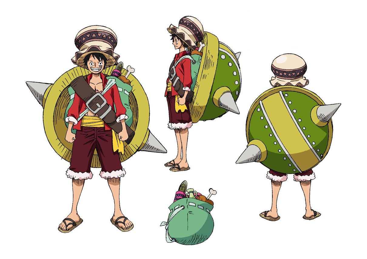 One Piece Stampede colored version of Oda's designs