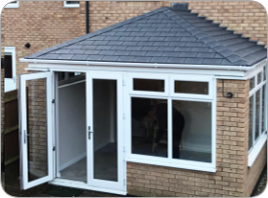 Low Pitched Lean To Roofs Compare Top 10 Tiled Conservatory Roofs Instant Online Prices Warmerroof Wa In 2020 Warm Roof Tiled Conservatory Roof Conservatory Roof
