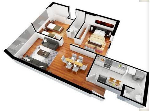 planos de casas por dentro en 3d