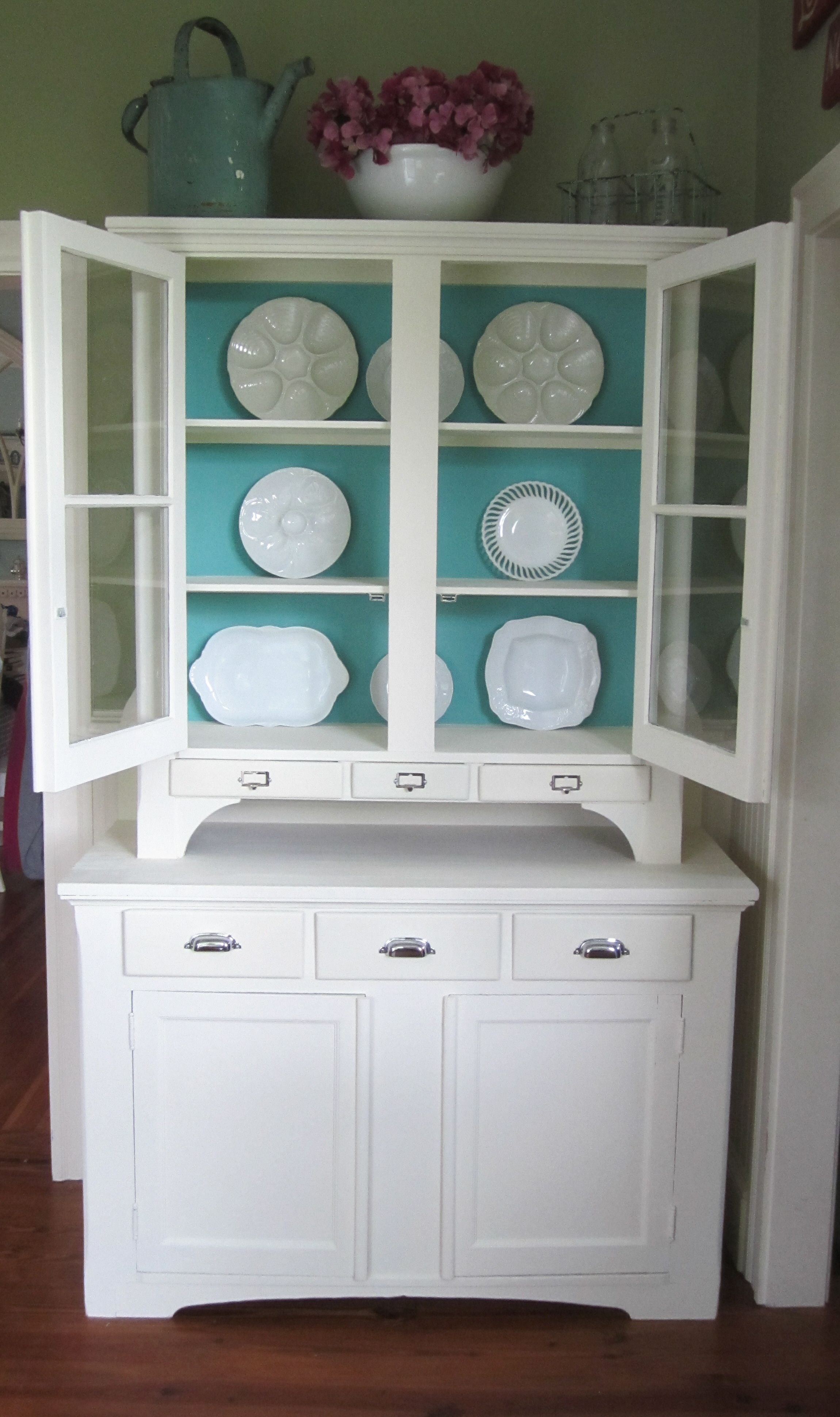Step Back Hutch after being transformed with Annie Sloan paint ...