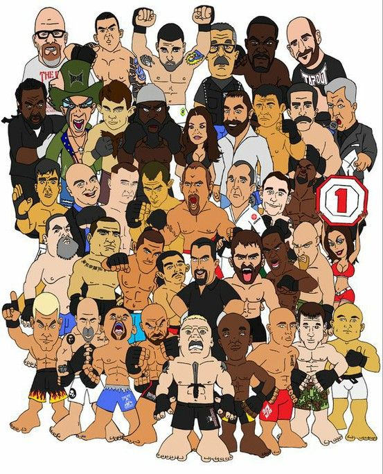 Ufc Cartoons Mma Fighting Mma Boxing Ufc Fighters