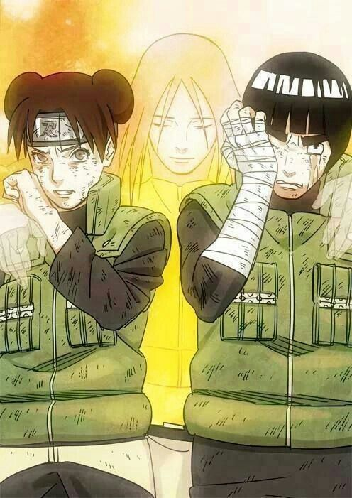 Team Guy, Tenten, Rock Lee, crying, sad, Neji, spirit, ghost