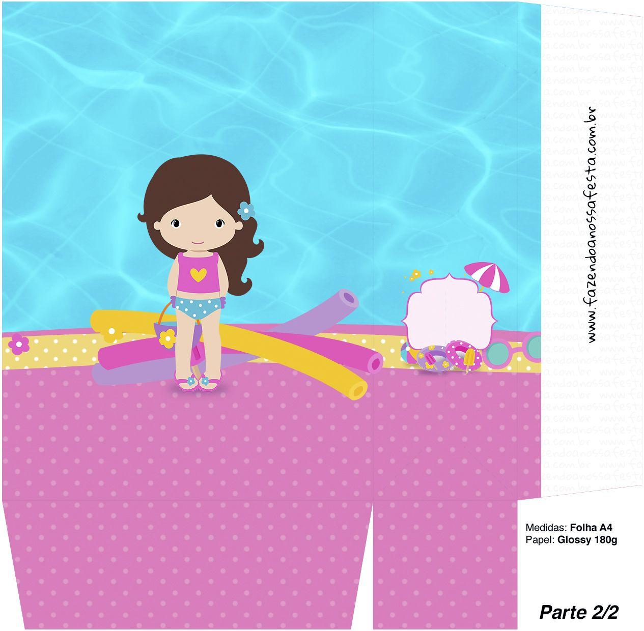 Sacolinha Surpresa Pool Party Menina Parte 2 Pinterest Molde