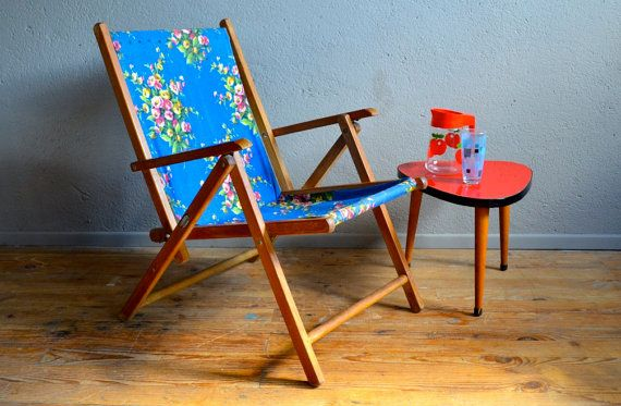 Chilean relaxing transat Chair long by Latelierbellelurette