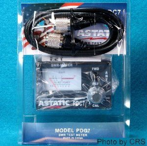 SWR METER for CB Radio Antennas with 3' Jumper cable Astatic