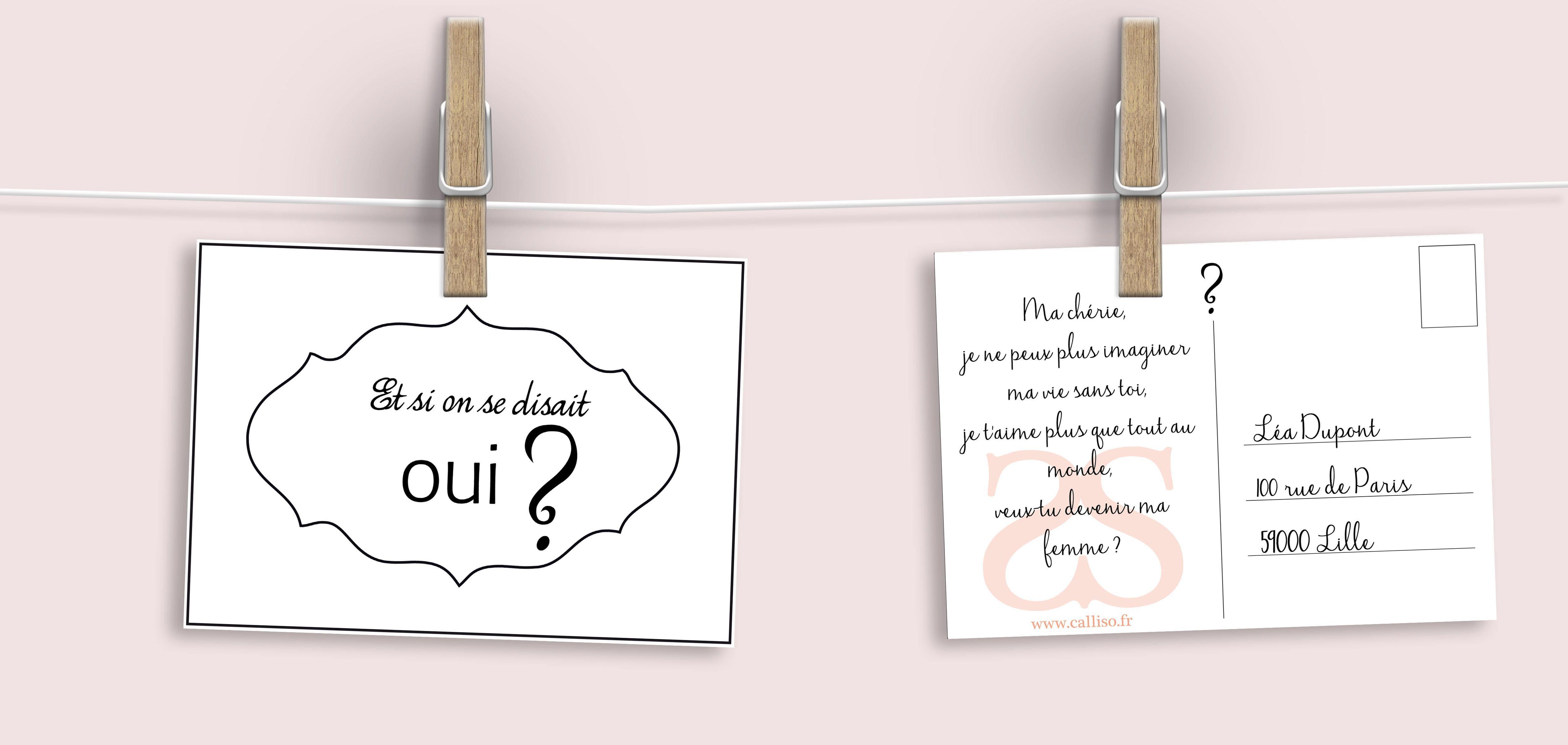 Carte Oui Calliso Amour Declaration Carte Postale
