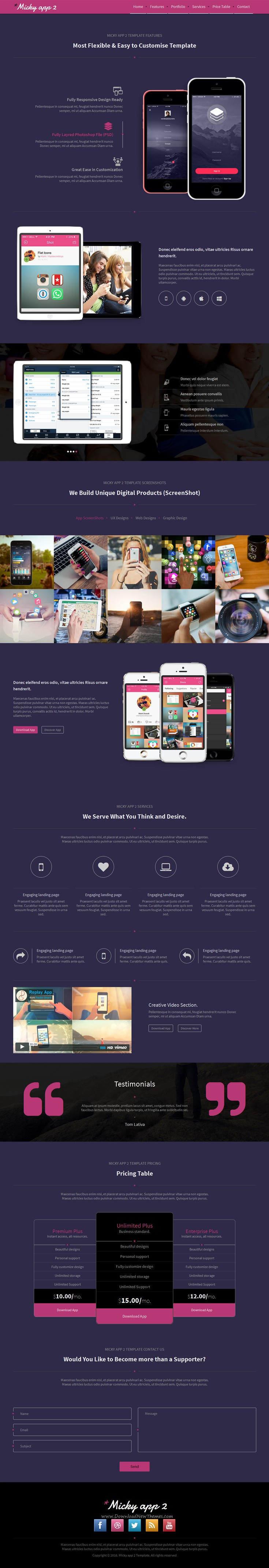 Micky, is a very Clean and Modern Designed HTML Bootstrap template for mobile app, digital agency,corporate etc. It is built with 10 #HTML pages included, and much more!