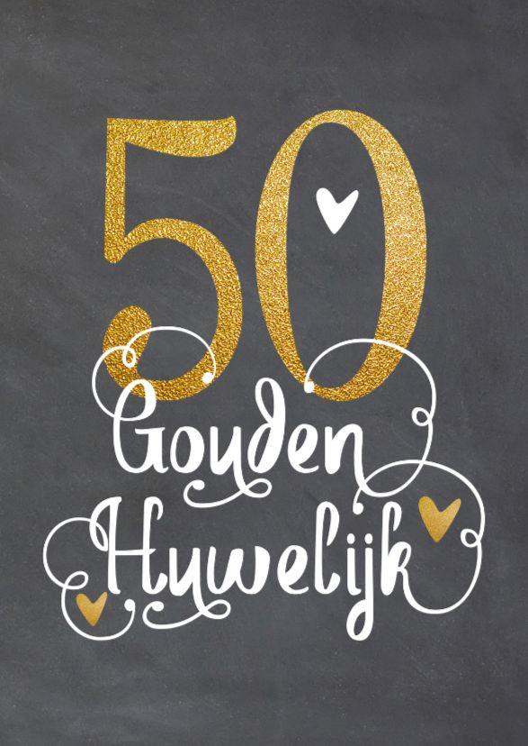Felicitatie Gouden Huwelijk Lo Nummers Letters