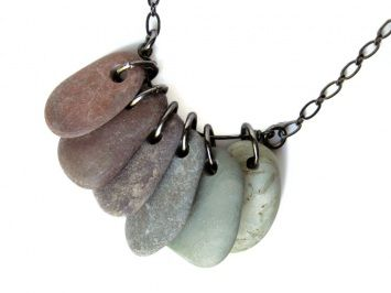 awesome river rock necklace!
