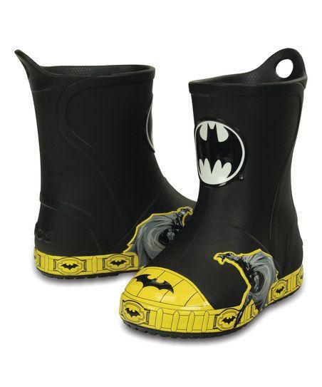 21c18dfb0 Crocs black bump it batman rain boot zulily for joshie bug jpg 452x543 Batman  croc rain