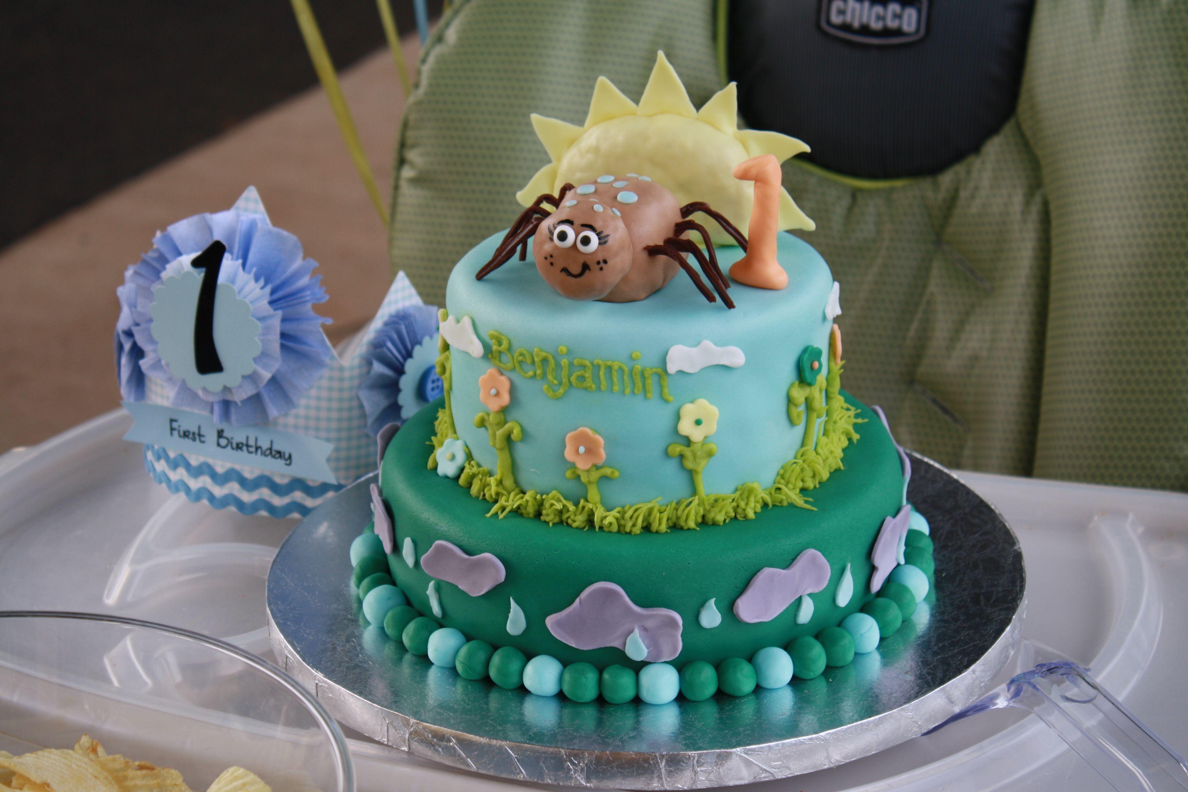 Itsy bitsy spider first birthday cake | emilee's Birthday ...
