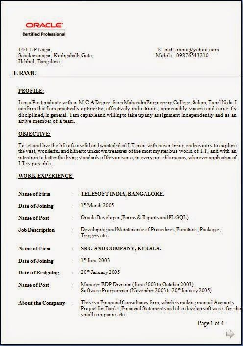 How To Do A Simple Resume Sample Template Example Of Excellentcv