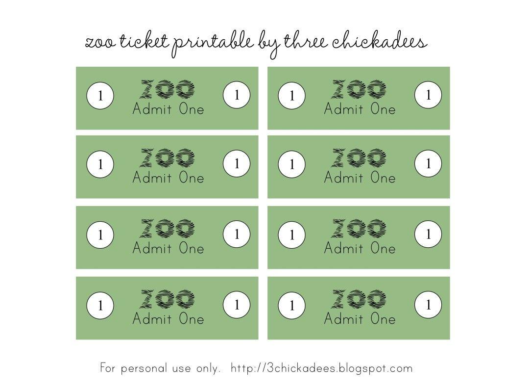 zoo pretend play admission tickets.jpg - MediaFire | pre-k ideas ...