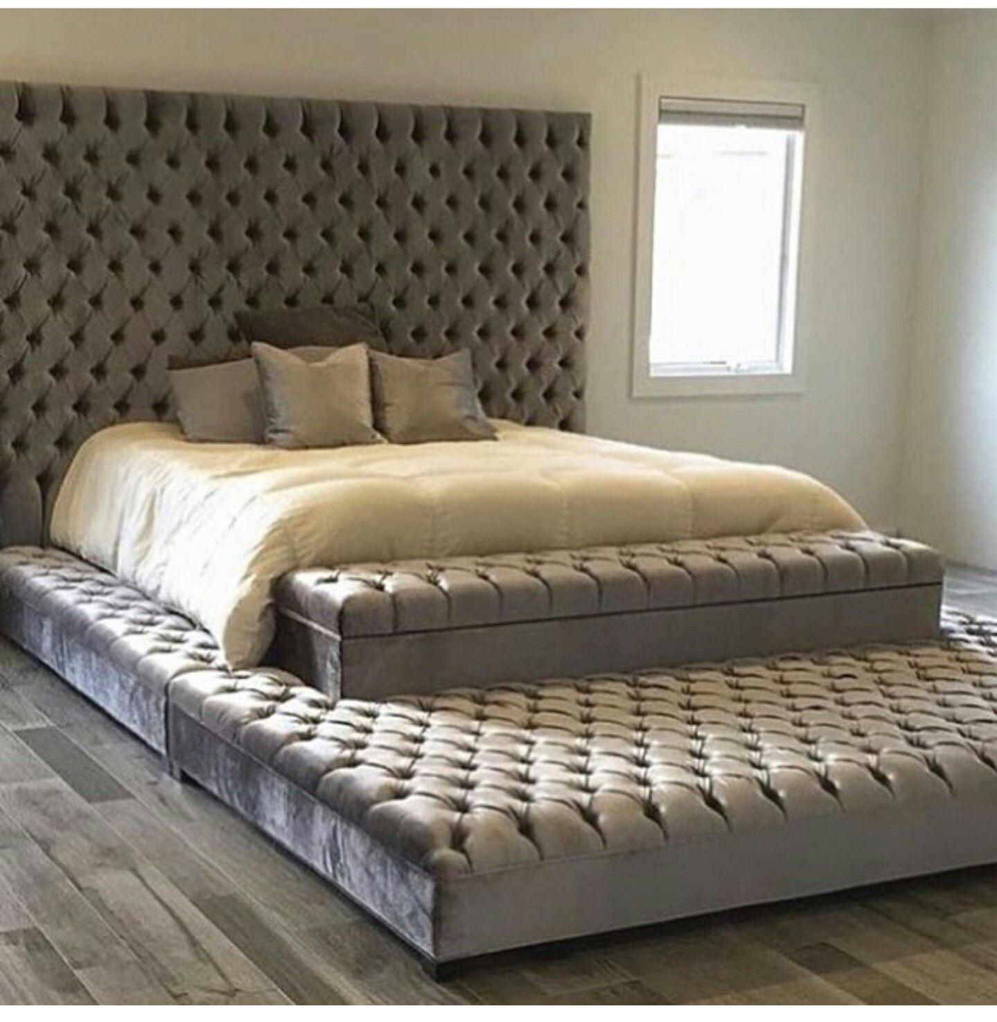 Big Beautiful Bed High Head Board Home Bedroom Master Bedrooms
