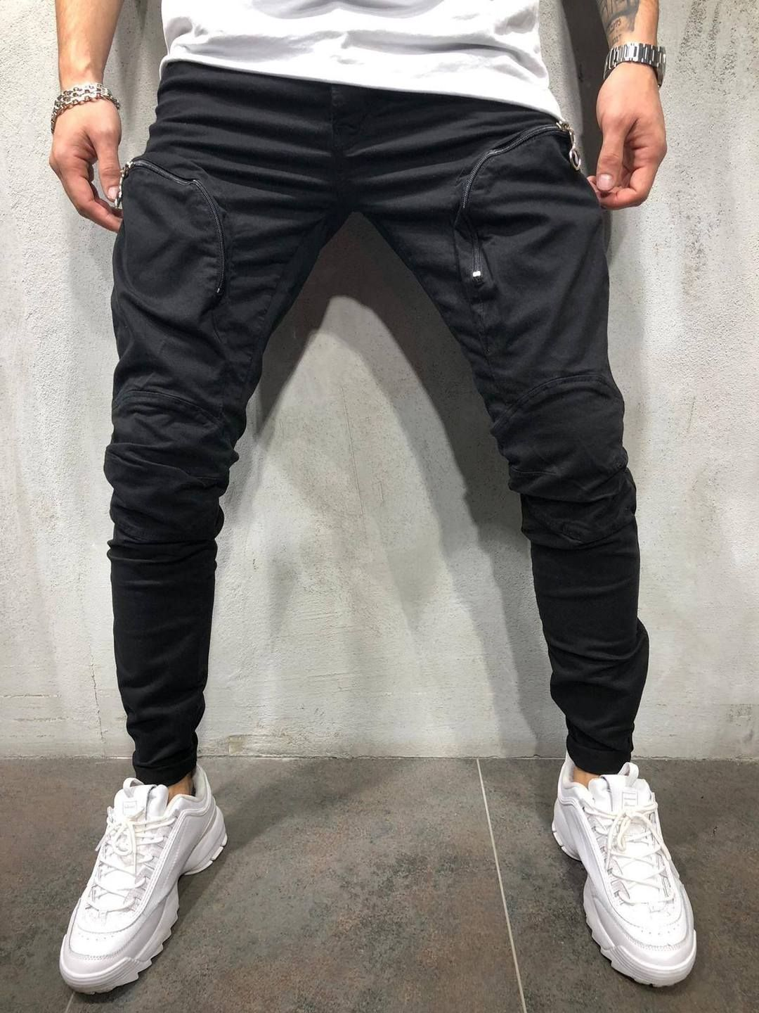 Men Black Joggers Pants Summer 2019 Mens Big Pockets Ankel Cargo Pants Male Spring Streetwear Overalls Sweatpants And To Have A Long Life. Mother & Kids