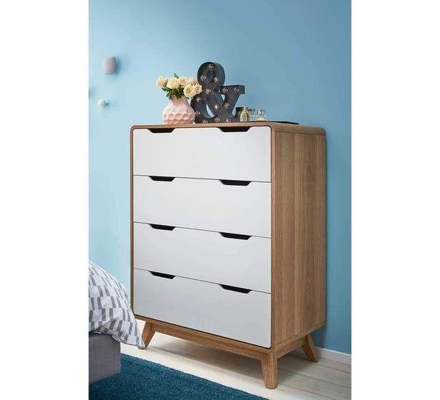 Retro 4 Drawer Tallboy Fantastic Furniture Mattress Bedroom Furniture