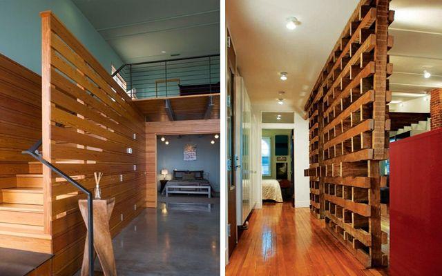 Decorar con palets paneles y decoradores de espacios - Paneles para separar espacios ...