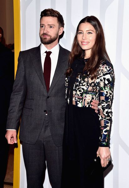 Actor/singer Justin Timberlake and actress Jessica Biel attend the premiere of Electric Entertainment's 'The Book of Love.'