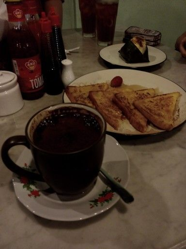 Kopi Tubruk Roti Bakar Prancis Makanan Makanan Dan Minuman Kopi