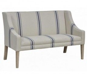 Bench Restylesource An Upholstered Bench With A Tall Back