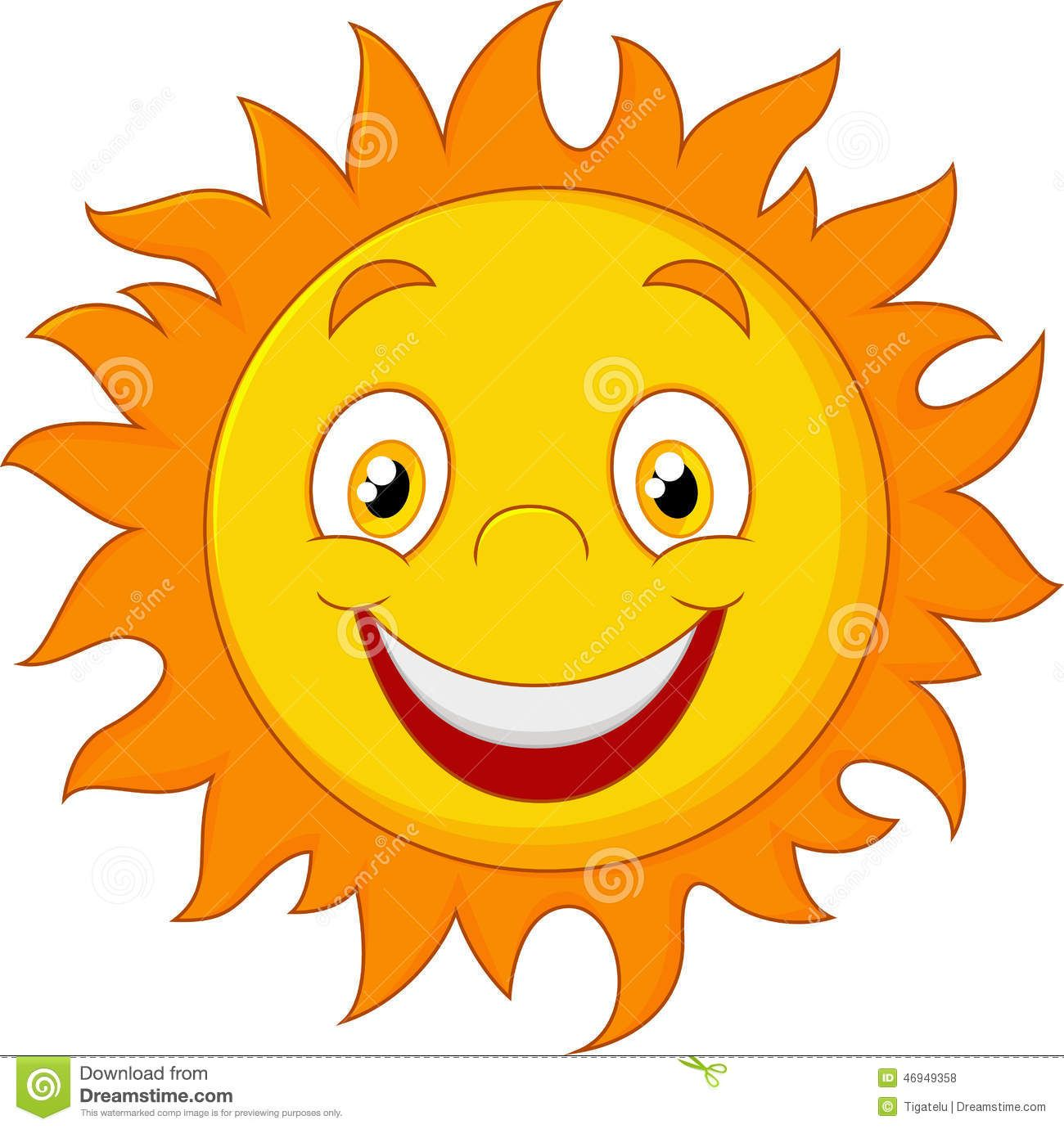 Happy Cartoon Sun Stock Vector Illustration Of Glow 46949358