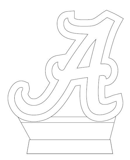 Alabama awesome stencil pinteres for Alabama crimson tide coloring pages