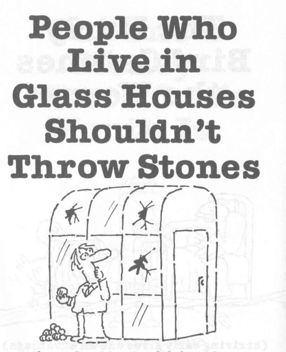 People Who Live In Glass Houses Shouldn T Throw Stones Love It