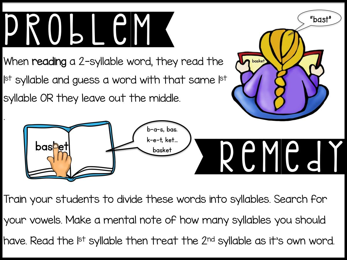 Teaching Two Syllable Words